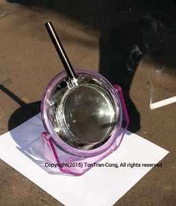 making fire by mirror plus magnifier