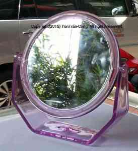 tiltable flat mirror