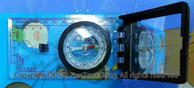 Compass Chinese Mirror
