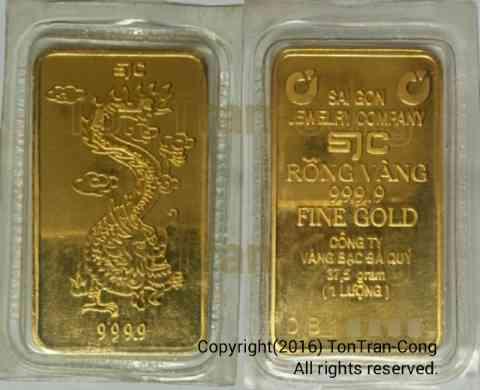 Vietnamese standardized gold slabs for trading