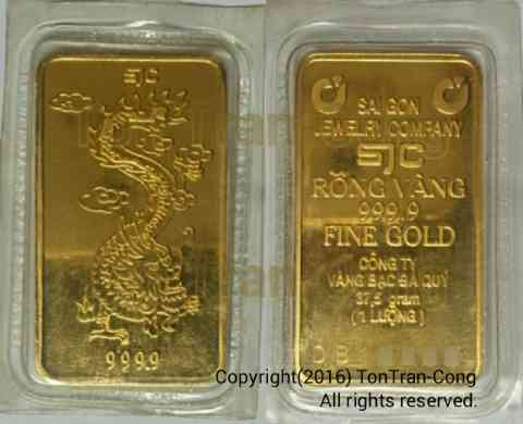 Vietnamese standardized gold slabs for trading